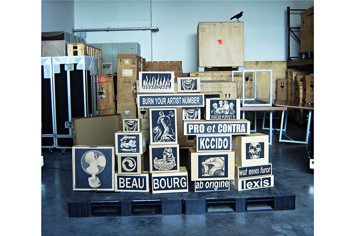 """Drawing-sculpture, variable dimensions, traces of the """"Ars apocalyptica"""" performance within the context of the """"Caprice des jeux"""" exhibition at the Frac Aquitaine in Bordeaux, France, 2008."""