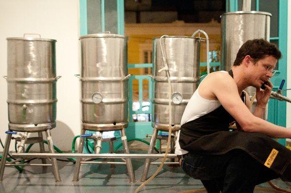"Giuseppe De Bernardi, ""Cerveza Tupac: tactical social economy"" (2011) at Revolver Gallery, Lima."