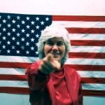 Susanna Bixby Dakin, An Artist For President, campaign image, 1984 | Photo: Courtesy of the artist.