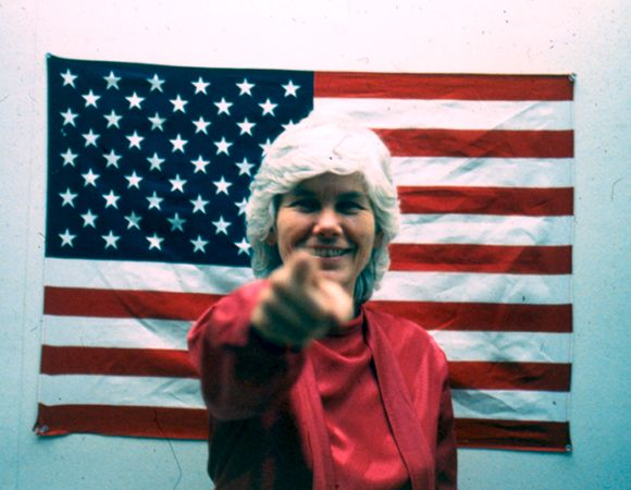 Susanna Bixby Dakin, An Artist For President, campaign image, 1984 | Photo: Courtesy of the artist.