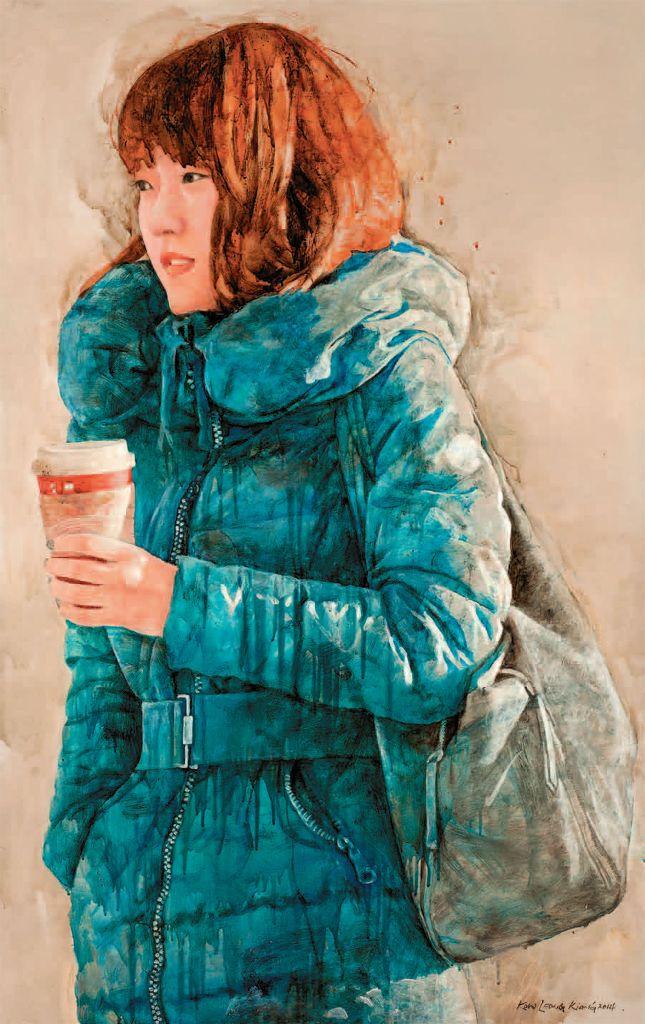 Kow Leong Kiang SEOUL 6, Oil and Acrylic on Canvas, 142cm X 90cm, 2014