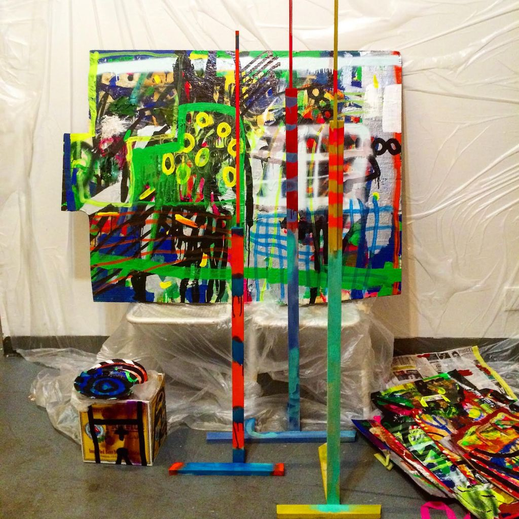 Kaoru Hironaka,FUTURE_IS_ ?HERE , 2015, installation view, Atrium Gallery, 18th Street Arts Center.