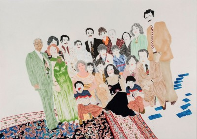 Elham Rokni, The Wedding Guests (The Abdis), 2015. Photography: Michael Underwood