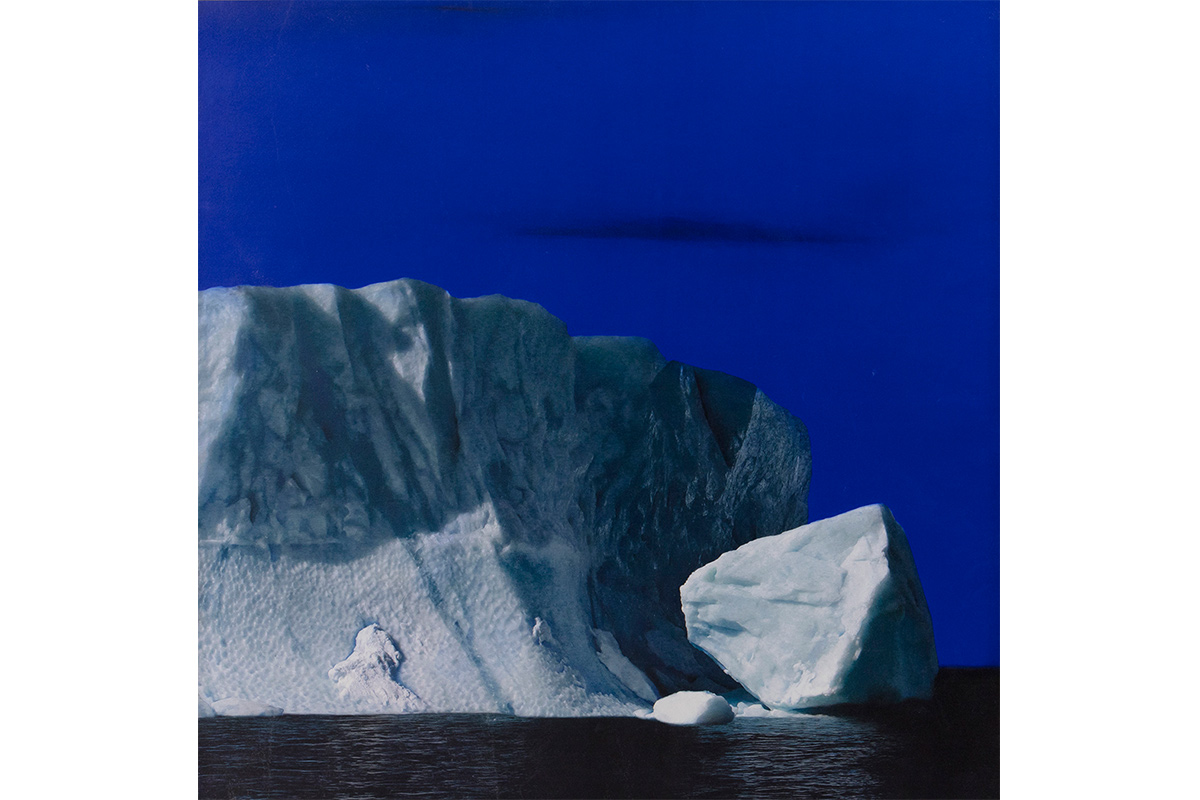 "Luciana Abait, Blue Sky, 2009 40"" x40"". Mixed media on paper mounted on wood panel. Courtesy of the artist."
