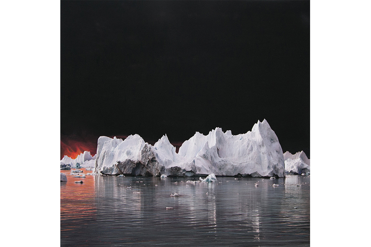 "Luciana Abait, Fire, 2009. 30"" x 30"". Mixed media on paper. Courtesy of the artist."