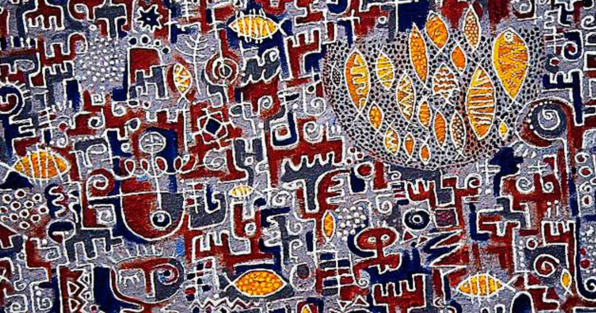 Nigerian painter, Victor Ekpuk