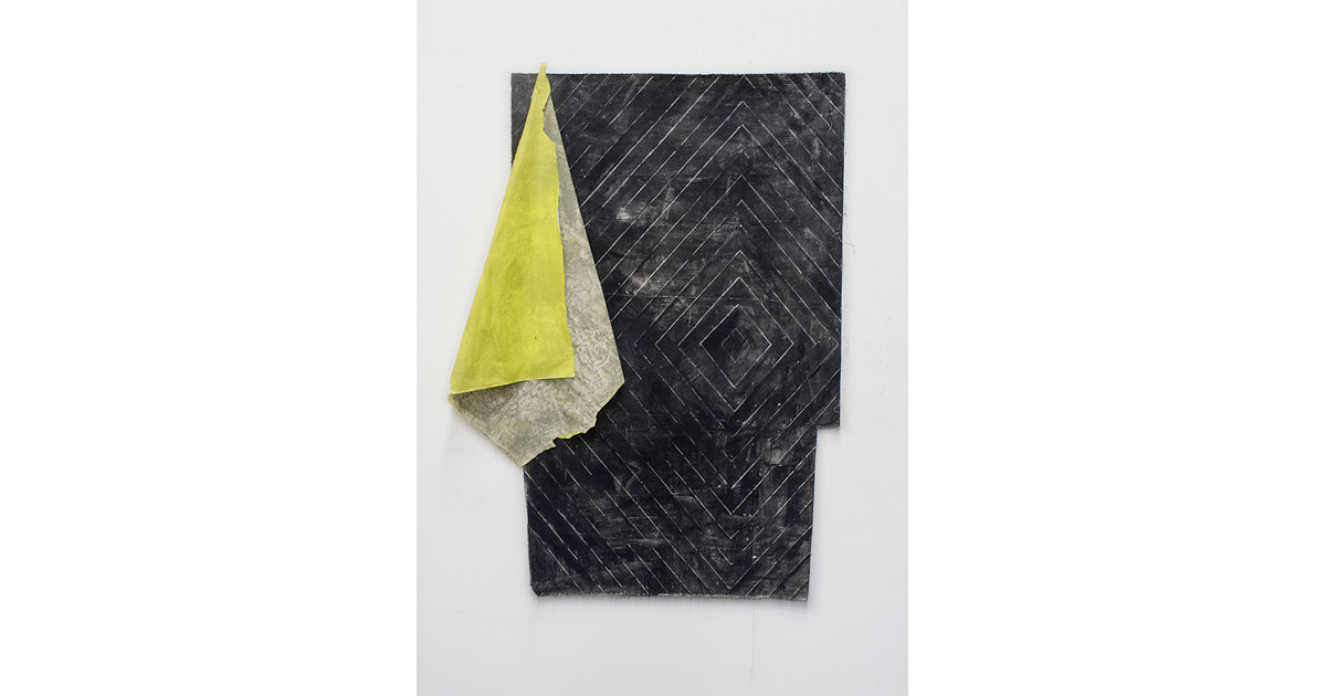 Alexandra Hopf, 2014, 97 X 64 Cm, The Stella Files #01, Oil Pastel, Gouache On Cotton