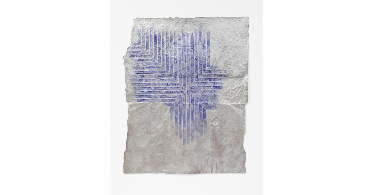 Alexandra Hopf, Lumpenstella #02,2014, 122x 100cm, Aluminum Powder, Gouache On Paper