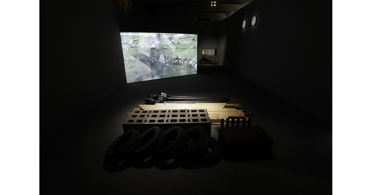 Two Ends, 2011, with Wu Shih-Chin. Installation, sculpture, and documentary film