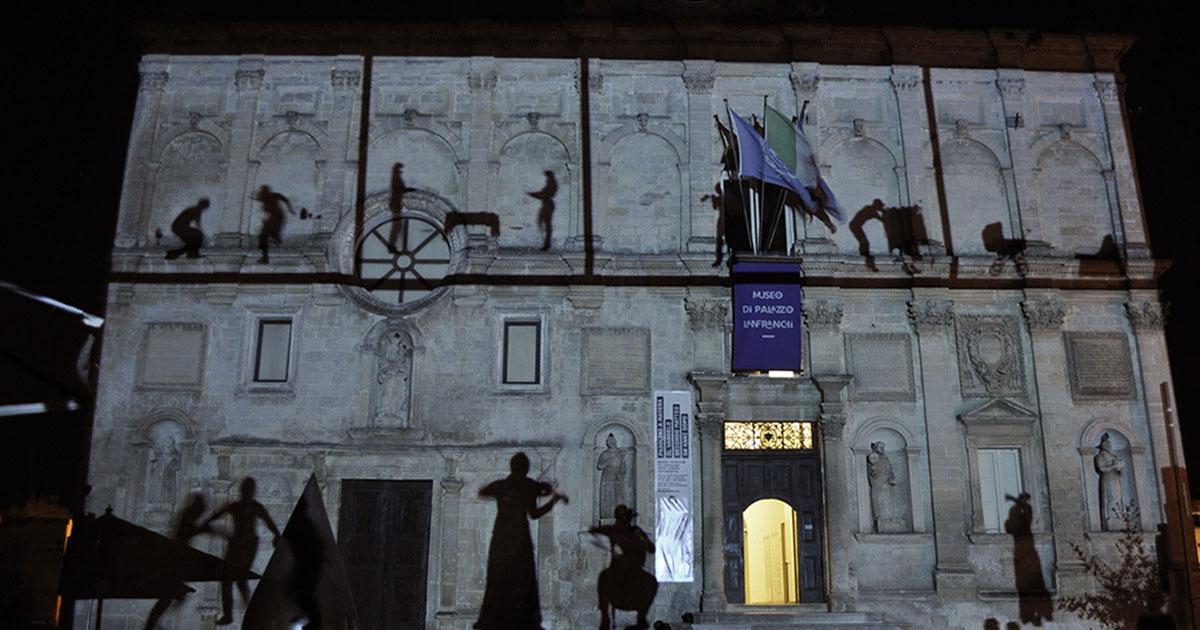 Elisa Laraia, Private Conversation, Urban Screen Project, 2014. Matera, Palazzo Lanfranchi, Basilicata. LAP Project.