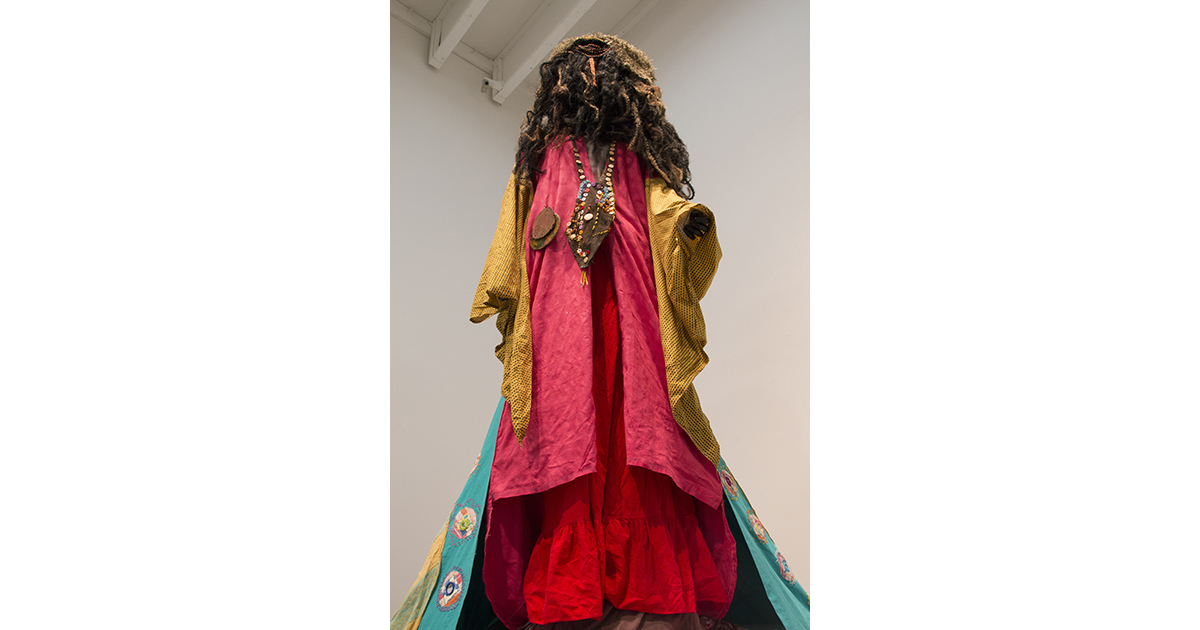 Kenyatta A. C. Hinkle, Healing Garment Of The Asheentee People 1, 2014. Photo By Jessica Wimbley & Chris Chistion.
