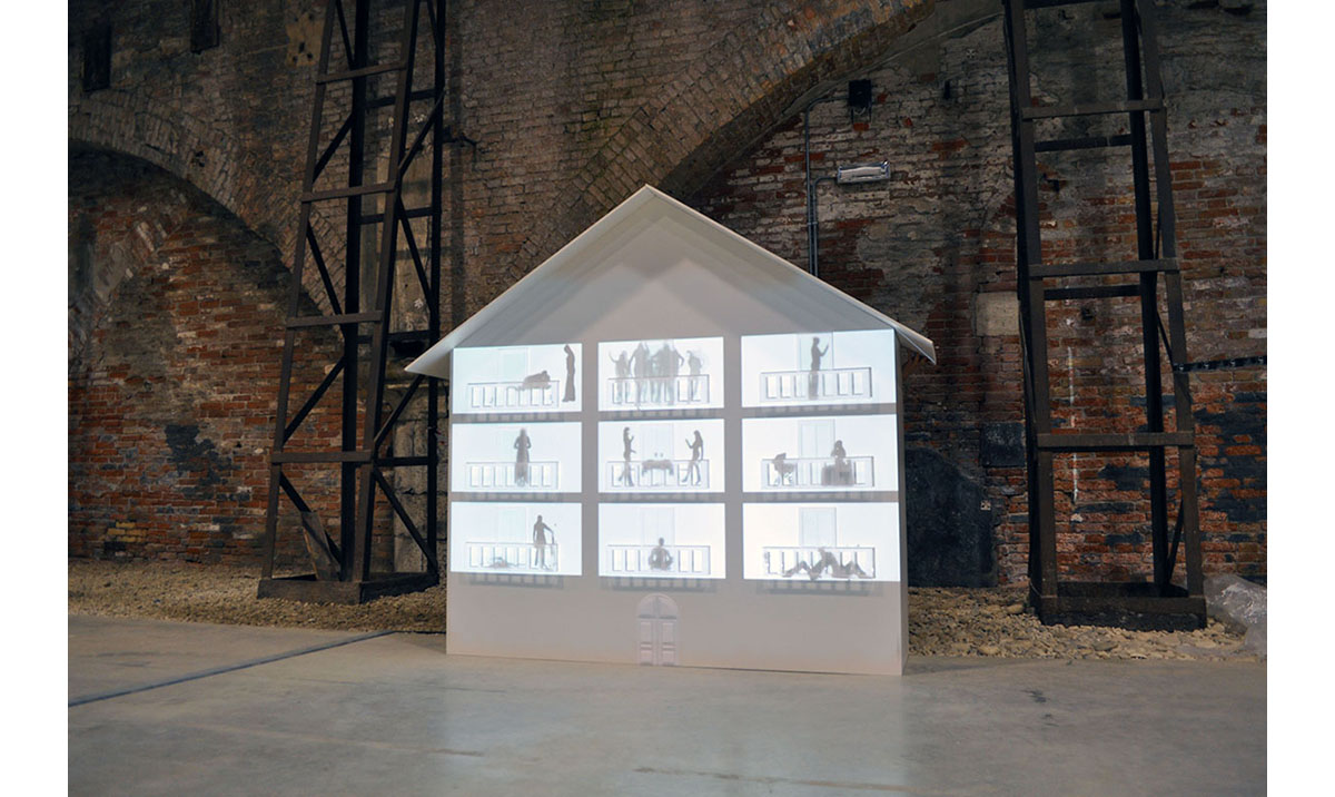 Elisa Laraia, Private Conversation, installation project, 2011. 54 degrees, Biennale di Venezia.