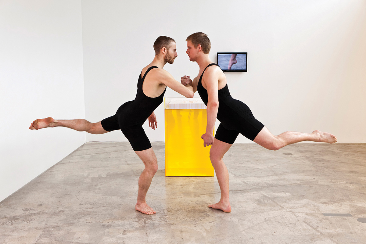 Encomium, 2011. Live Performance & Installation. Image Courtesy Diaz Contemporary. Photo By Tony Hafkenscheid. Dancers Robert Kingsbury And Sky Fairchild-Waller.