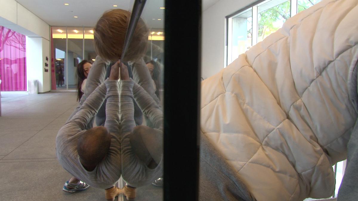 The Laboratory For Embodied Intelligences, (Hammer Museum 2017 Rehearsal) Photo: Carole Kim Dancers, Left To Right: Jonathan Bryant, Hyosun Choi, Vanessa Baish, Flora Wiegmann