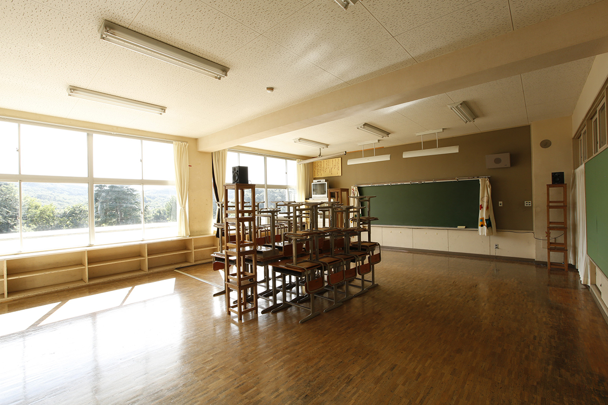 Kenopsia (Void Of Human Life), Sound Installation At Former Fujigaoka Elementary School, Japan Kenpoku Art, Japan 2016 Credits: KENPOKU ART 2016
