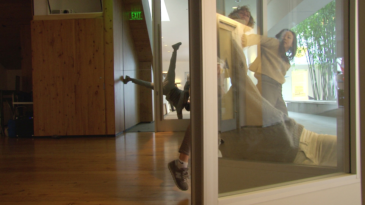 The Laboratory For Embodied Intelligences, (Hammer Museum 2017 Rehearsal) Photo: Carole Kim Dancers, Left To Right: Jonathan Bryant, Flora Wiegmann, Vanessa Baish, Hyosun Choi