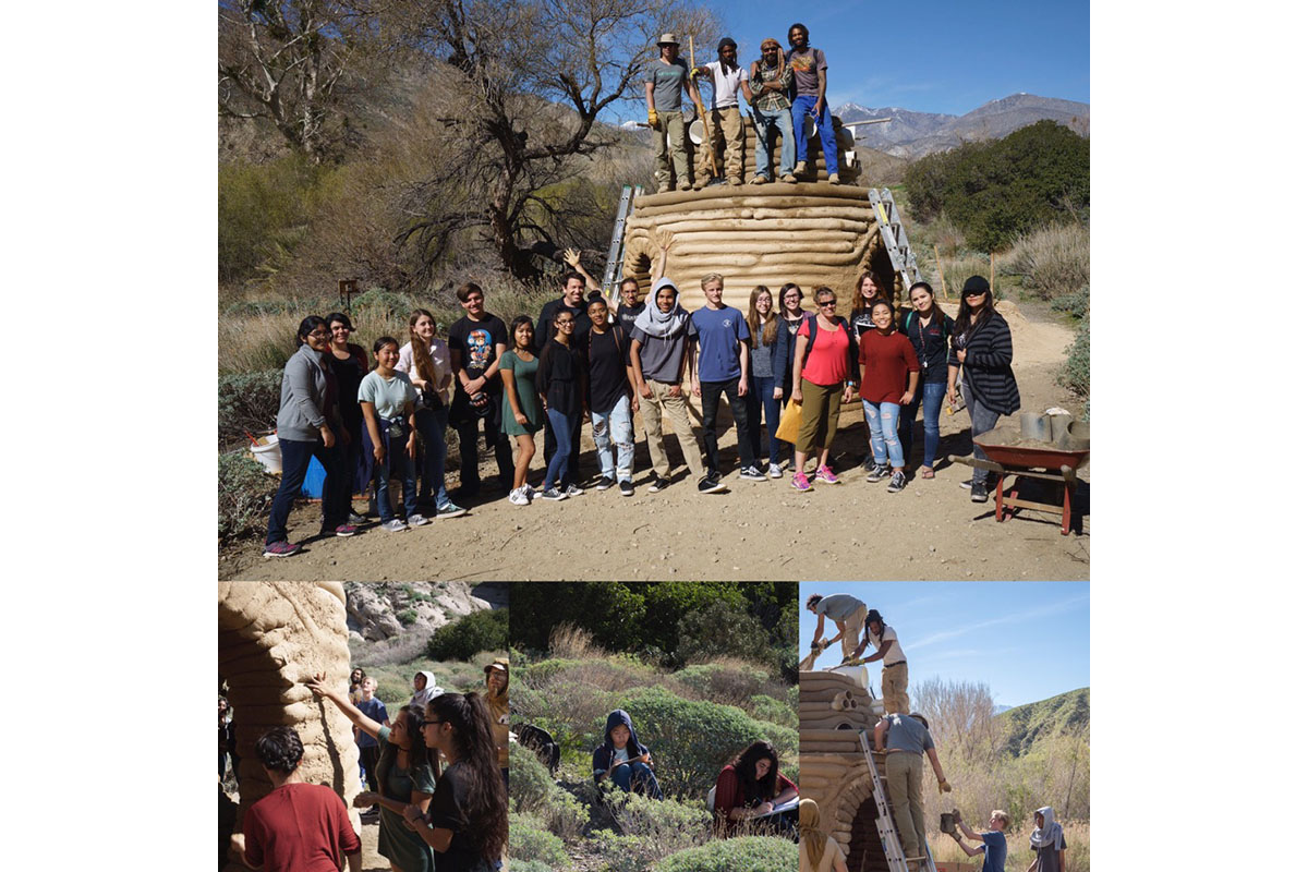 Students From Palm Springs High School Visit And Help At The Site. PC: Jack Thompson
