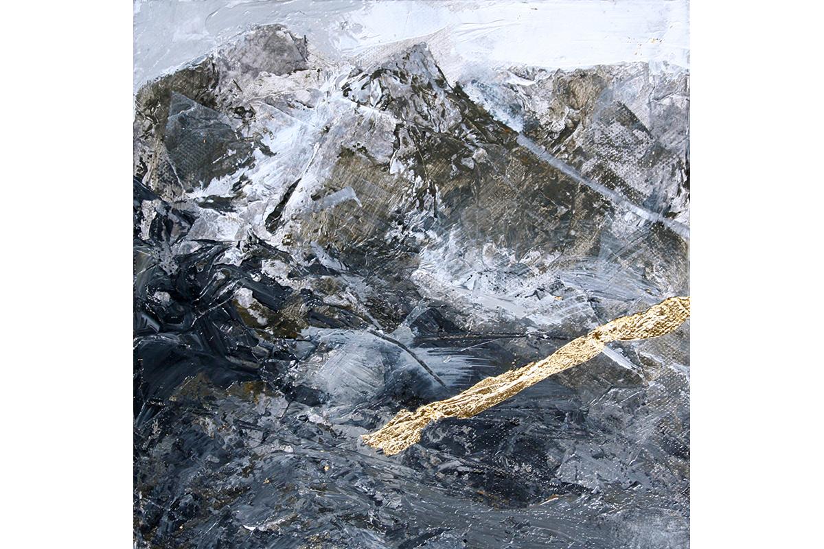 MOUNTAINa, Mixed Media On Canvas – 30cms X 30cms (SPIRIT OF THE MOUNTAINS)
