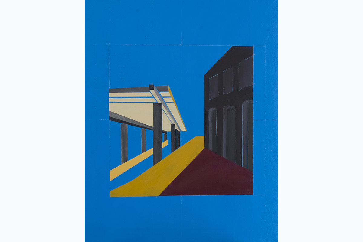Tony Moss, Ancient And Modern, 2014, 510 X 410, Acrylic On Canvas. Photo By Paul Smith. Courtesy Of The Artist.