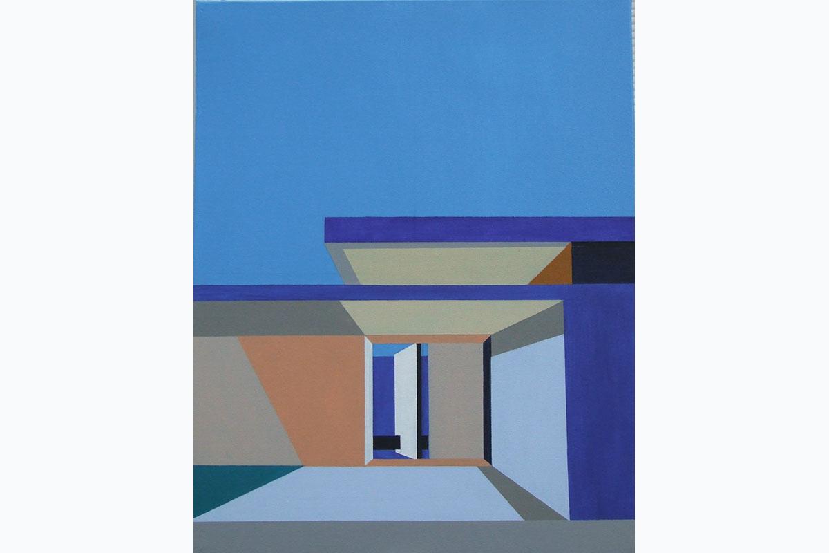 Tony Moss, Palm Springs. 2015, 510 X 410, Acrylic On Canvas. Courtesy Of The Artist.