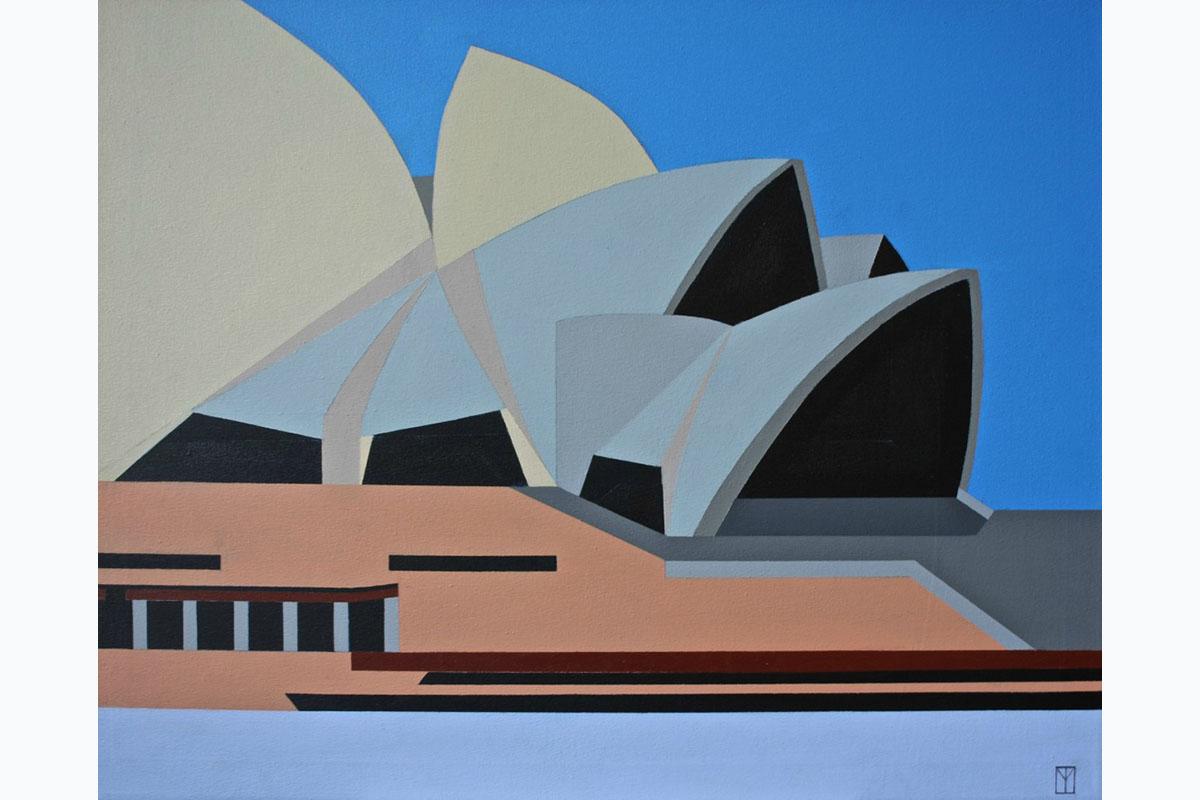 Tony Moss, Sydney Opera House, 2017, 755 X 600, Acrlyic On Canvas. Courtesy Of The Artist.