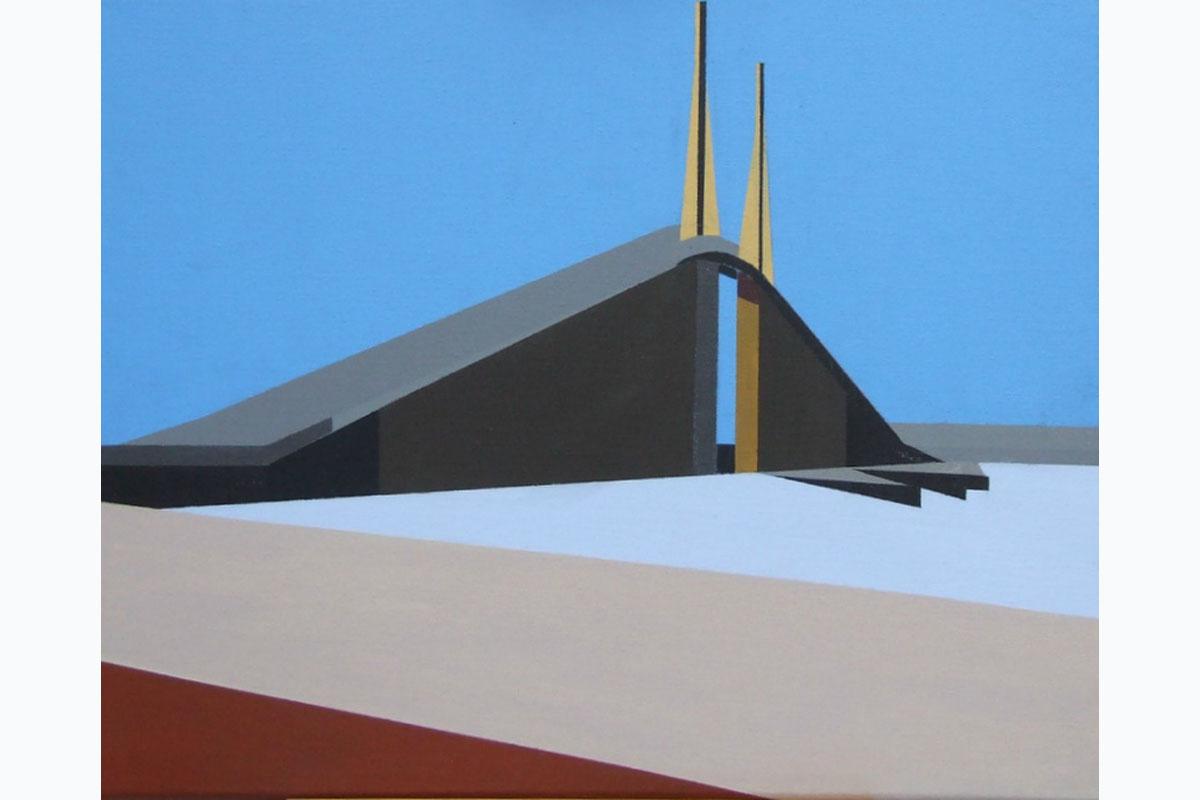 Tony Moss, Sunshine Skyway Bridge, 2015, 510 X 410, Acrylic On Canvas. Courtesy Of The Artist.