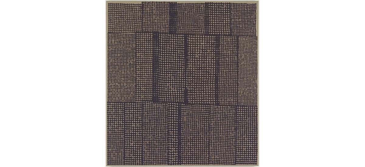 Jesper Dyrehauge, No Title, 2013. 155 X 145 Cm. Carrot Stamping On Canvas.