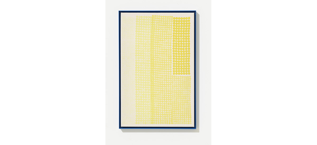 Jesper Dyrahauge, Untitled, 2015. 883 X 575 Cm. Carrot Stamping On Canvas. Part Of Nine New Works At Gallery Kant Copenhagen.