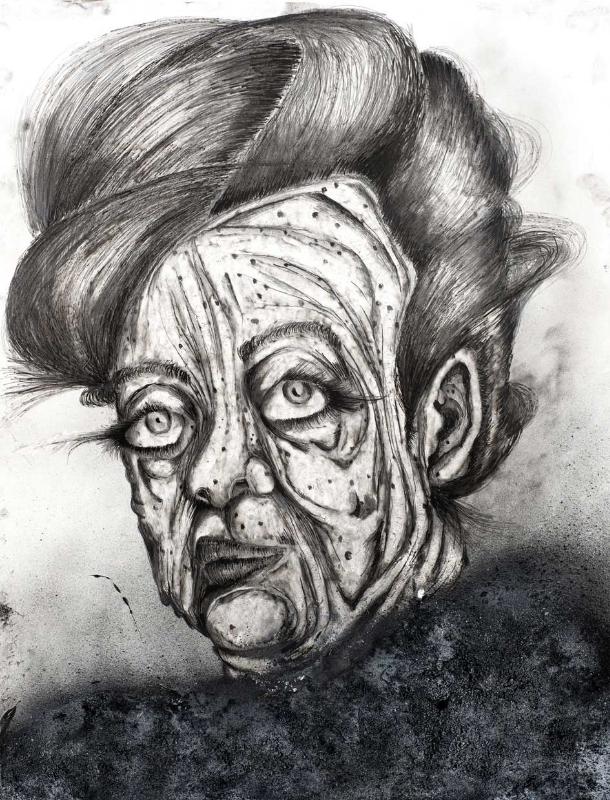 Roey Victoria Heifetz, Das Kannst Du Knicken, 2013, Graphite And Ink On Paper. Photo By Elie Posner.