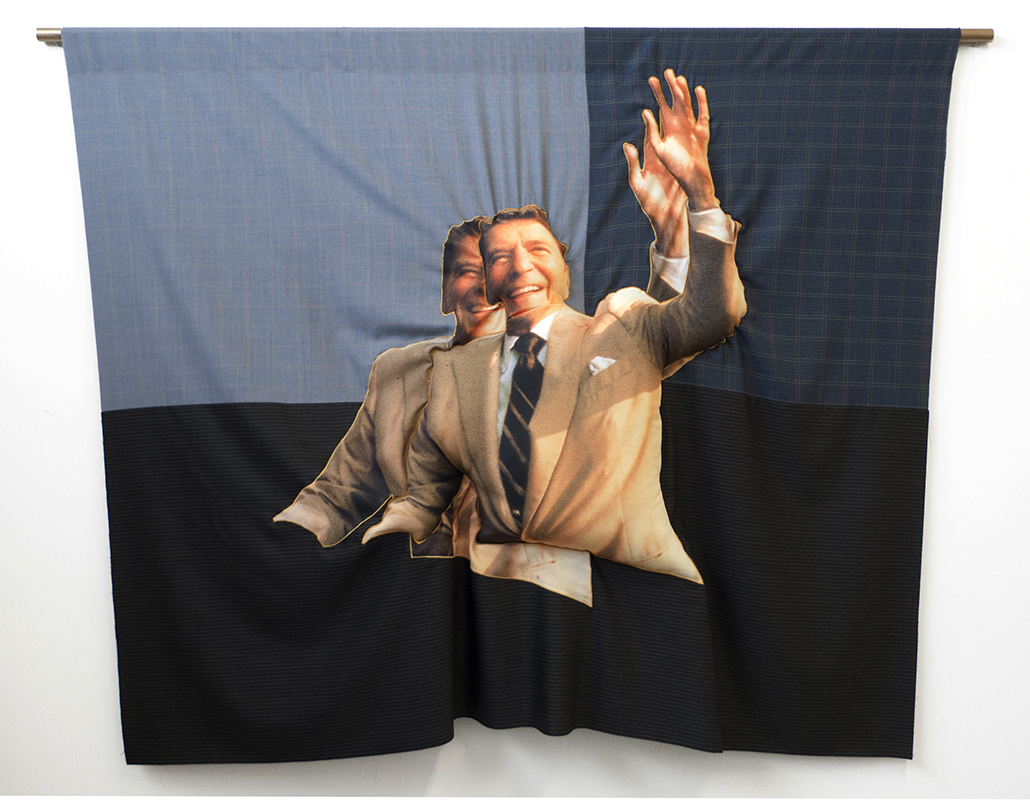 DoubleDoubleRR, 2015; Wool And Polyester; 87 X 66 In. Photo: Phil Maisel.