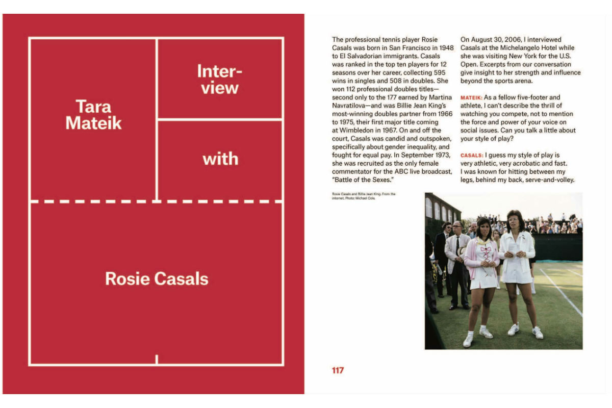Astria Suparak And Brett Kashmere, Interview With Rosie Casals And Tara Mateik, 2018. Photo By Astria Suparak. Courtesy Of Astria Suparak.