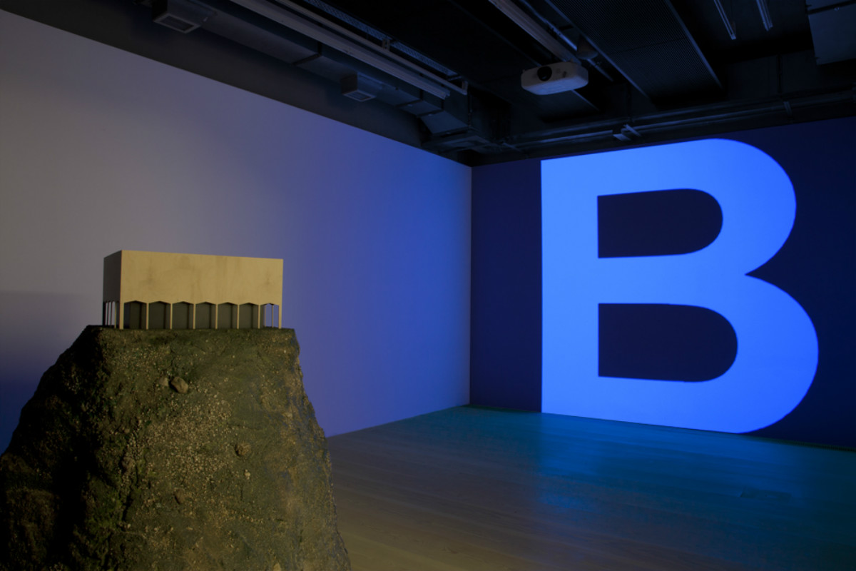 Rick Buckley, Black Bile 84, 2015, HD-DV 00:03:55 min looped projection, Mixed media, various dimensions, Installation view. Photo by Manuela Barczewski. Courtesy of Focal Point Gallery, UK.