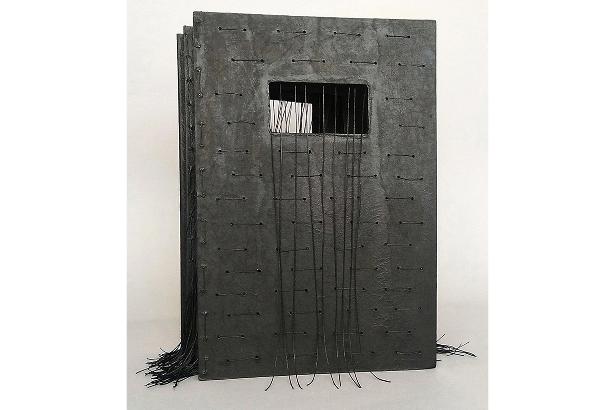 "Debra Disman, Maximum Security, 2018. 15 x 18 x 10.25"". Mixed media. Photo by Bernard Wolf. Courtesy of the artist."