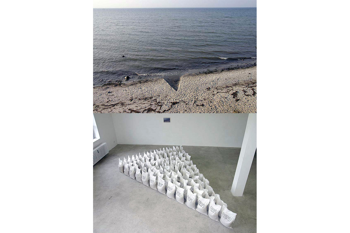 Nikolaj Recke, 10 Meters of extended German Coastline, 2006, Installation views. Photo by Nikolaj Recke. Courtesy of the artist.