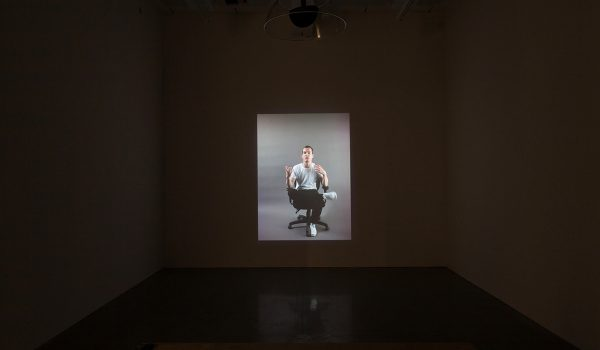 Damir Avdagic, Prevodenje (Translation), 2014. 16:13 Minutes. SD-video, Sound. Installation View. Photo By Paul Mpagi Sepuya.