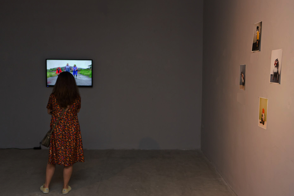 Ginta Vasermane (F.L.O.A.T. Initiative), Postures exhibition, 2016. Installation view. Contemporary Art Space Batumi, Batumi, Georgia.