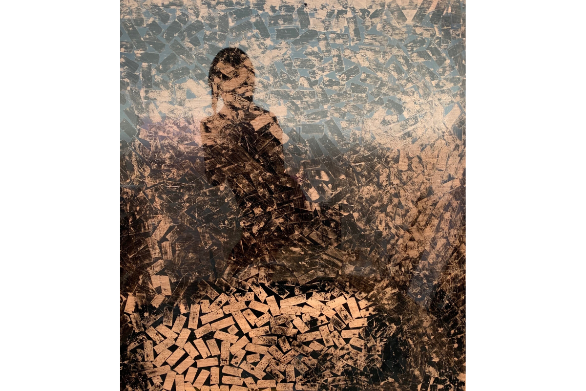 "Deborah Lynn Irmas, Unbroken (Self portrait 2), 2019. 60"" x 40"". Mixed media/Photo collage. Courtesy of the artist."