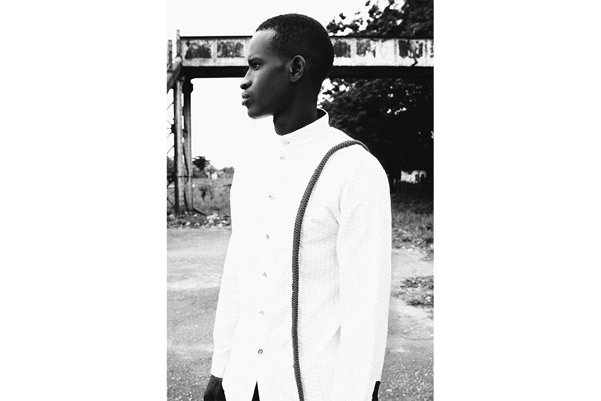 "Buki Akib, Homecoming Collection, 2012. Photo shot in old railway ""Ebute Metta"", Lagos, Nigeria. Photography by Lakin Ogunbanwo."