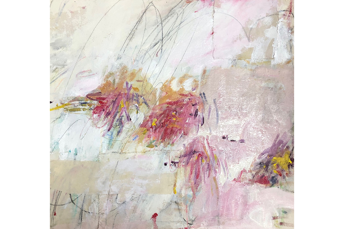 Crystal Michaelson, Scribble Me A Color Dance No. 3, 2019. Mixed Media On Canvas. 20 X 20 Inches. Courtesy Of The Artist.