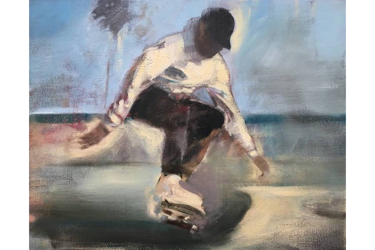 Gregg Chadwick, Venice - Skate Light, 2018. Oil on linen. 16 x 20 inches. Courtesy of the artist.