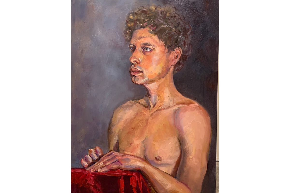 M Susan Broussard, Matt IV, 2019. Oil on Masonite. 24 x 18 inches. Courtesy of the artist.