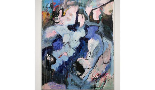 "Pamela Simon-Jensen, Untitled, 2016. Acrylic On Canvas. 48"" X 60"". Photo By Elon Schoenholz. Courtesy Of The Artist."