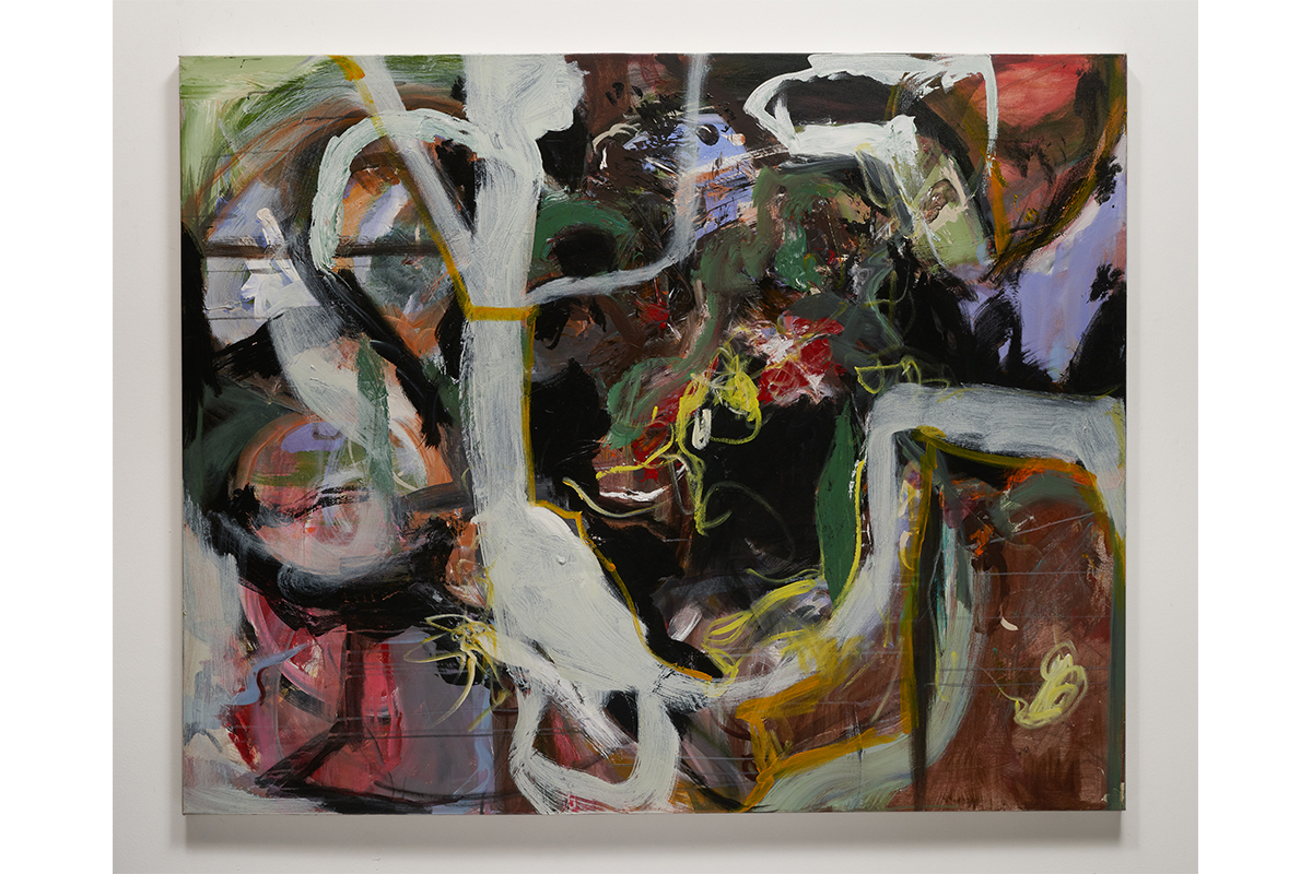 "Pamela Simon-Jensen, Untitled, 2016. Acrylic on canvas. 48"" x 60"". Photo by Elon Schoenholz. Courtesy of the artist."