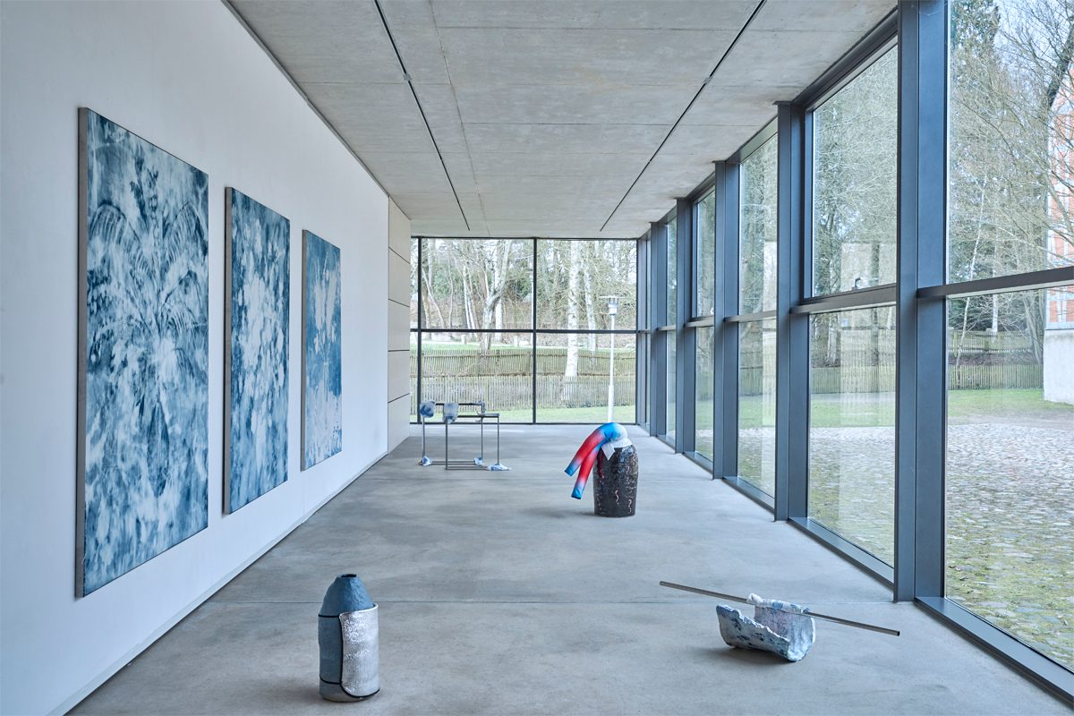 Verena Schöttmer, Exhibition view of Ghostwritings, 2017. Gallery of Cultural Foundation Sparkasse Stormarn, Germany. Courtesy of the artist.