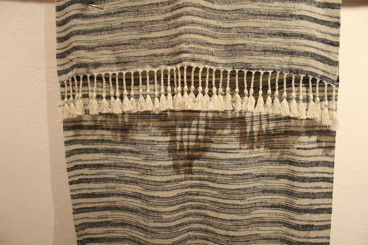 Arturo Hernández, photo of cotton and wool rebozo with unique design. Courtesy of the artist.