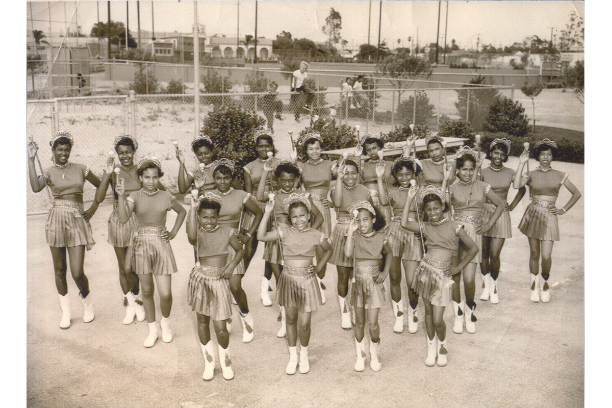 The Terryettes Drill Team, Formed By Mrs. Thelma Terry. Photo Courtesy Of The Quinn Research Center.