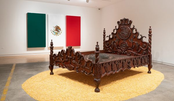Marcos Ramirez ERRE, Presidential Bed, 2000. Installation. Iturralde Gallery, Los Angeles. Courtesy Of The Artist.