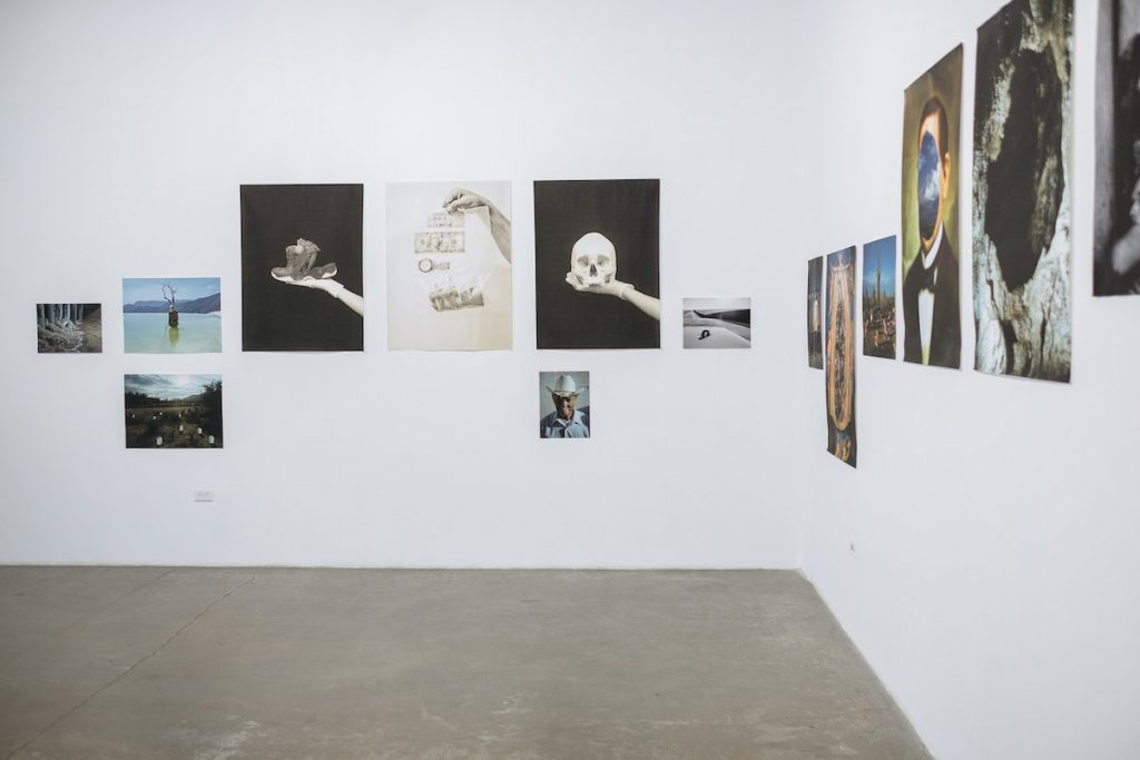 Cristina de Middel, Journey to the Center series, 2014-present. Photographs, various dimensions. Installation view. Photo credit: Kenji Barrett.