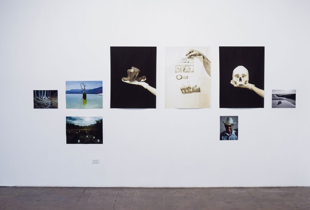Cristina de Middel, Journey to the Center series, 2014-present. Photographs, various dimensions. Installation view. Photo credit: Juan Silverio.