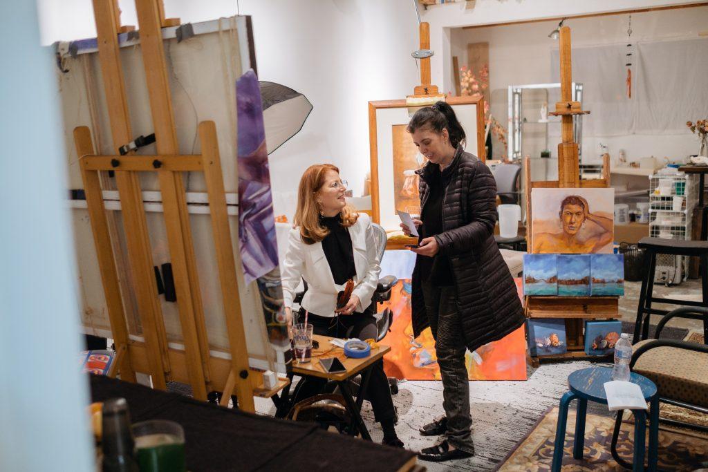 M Susan Broussard's studio.